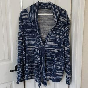 Charter Club Relaxed, Blue & Grey Cardigan